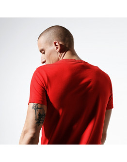 CONFRONT T-SHIRT FOOT PRINT RED TEE